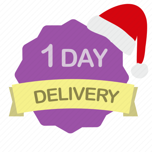 christmas, day, delivery, label icon