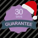 christmas, days, guarantee, label