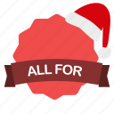 christmas, dollar, guarantee, label, sale icon
