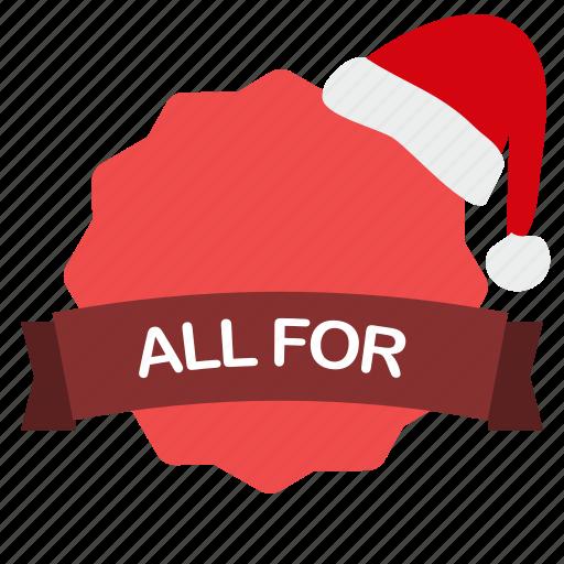 christmas, dollar, guarantee, label, sale icon