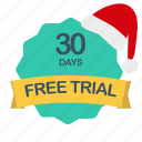 christmas, days, free, trial icon
