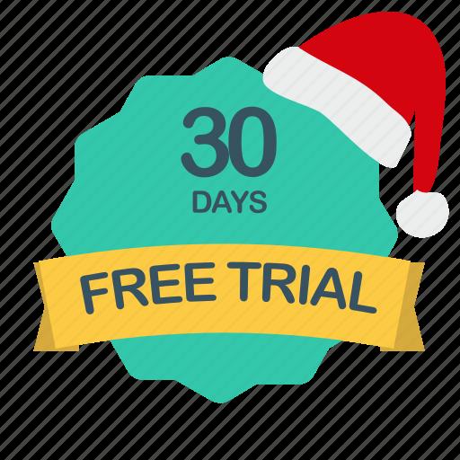 christmas, days, free, trial icon