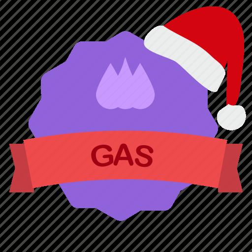 christmas, gasdrops, guarantee, oil, ribbon icon