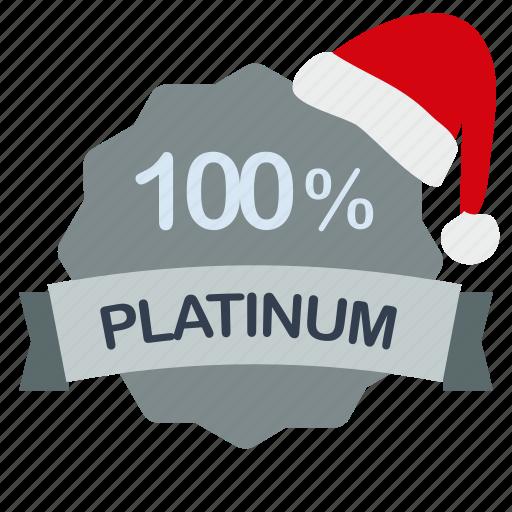 christmas, guarantee, percent, platinum icon