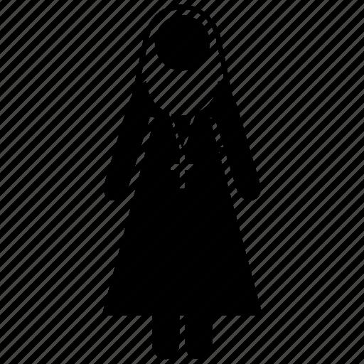 cloistress, conventual, nun, religion, religious, sister, woman icon