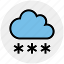 christman, cloud, decoration, snow, snowing, winter icon