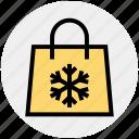 bag, christmas, season, shopping, snow, winter icon