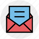 email, envelope, letter, message, open, open envelope, sheet icon