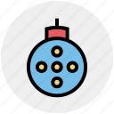 celebration, christmas, festivity, globe, holiday, party icon