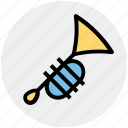 band, brass, instruments, music, trombone, trumpet icon