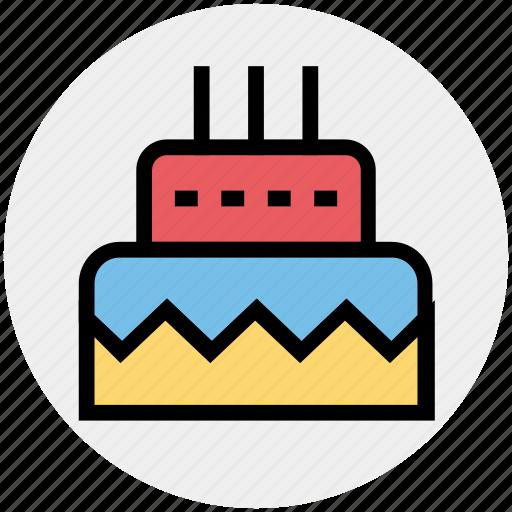 birthday, birthday cake, cake, celebration, dessert, party, sweet icon