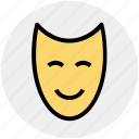 anonymous, entertainment, face, happy, leisure, mask icon