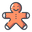 biscuit, christmas cookie, cookie, gingerbread icon
