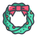 christmas, christmas decoration, christmas wreath, wreath, xmas icon