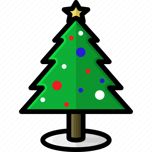 christmas, decoration, holidays, ornaments, tree, winter icon