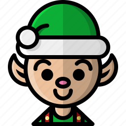 christmas, elf, helper, holidays, north pole, santa, winter icon