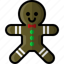 christmas, cookie, food, ginger, gingerbread, holidays, man