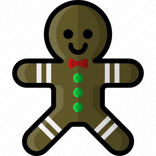 christmas, cookie, food, ginger, gingerbread, holidays, man icon