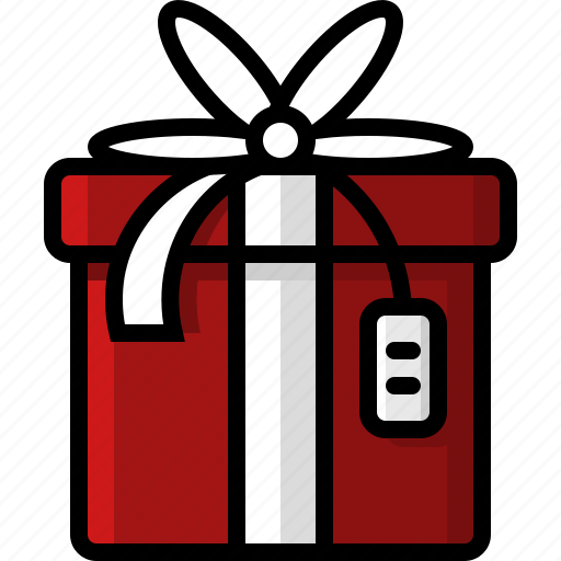 box, christmas, gift, holidays, package, present, wrapped icon