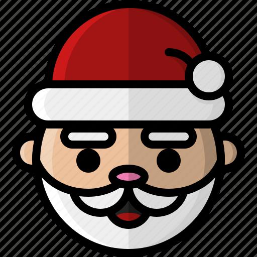 christmas, december, father christmas, holiday, santa, santa claus, winter icon