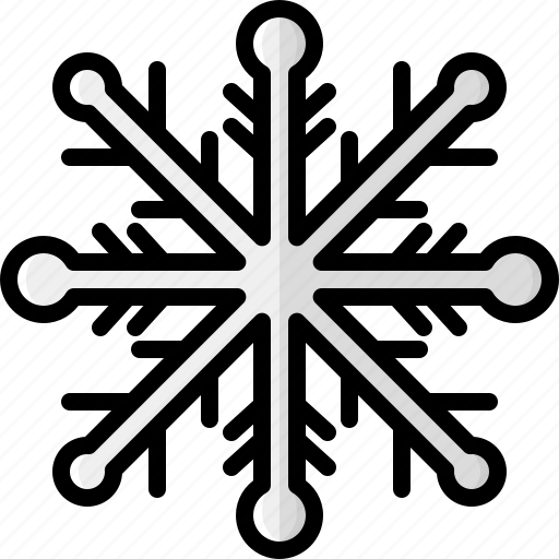 christmas, frost, holidays, snow, snowflake, weather, winter icon