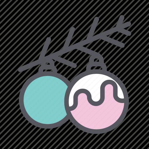 baubles, christmas, christmas baubles, christmas decoration icon
