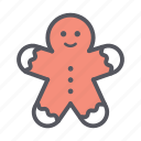 christmas, decoration, ginger bread, ginger man, gingerman icon
