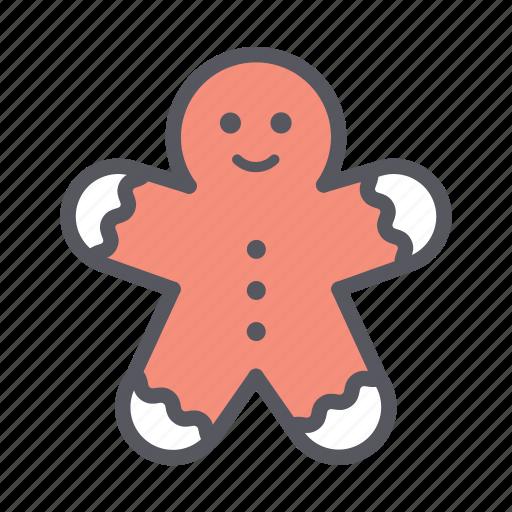christmas, decoration, ginger bread, ginger man, gingerman icon