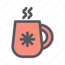 christmas, christmas drink, cup, hot drink, mug, tea, winter drink icon