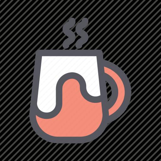 christmas, christmas drink, coffee, hot drink, mug, tea, winter drink icon