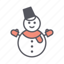 christmas, christmas fun, fun, snowman, winter, winter fun icon