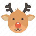 christmas, deer, gift, holiday, present, rudolph, santa icon