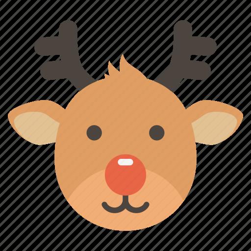 christmas, deer, gift, holiday, present, rudolph, santa icon