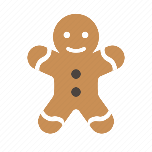 bread, christmas, cookie, food, ginger, holiday, sweet icon