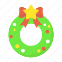 celebration, christmas, decoration, holiday, ornament, wreath, xmas icon