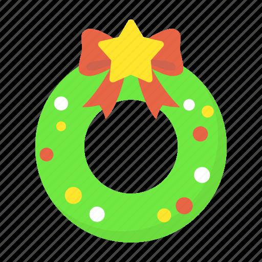celebration, christmas, decoration, holiday, ornament, wreath, xmas icon