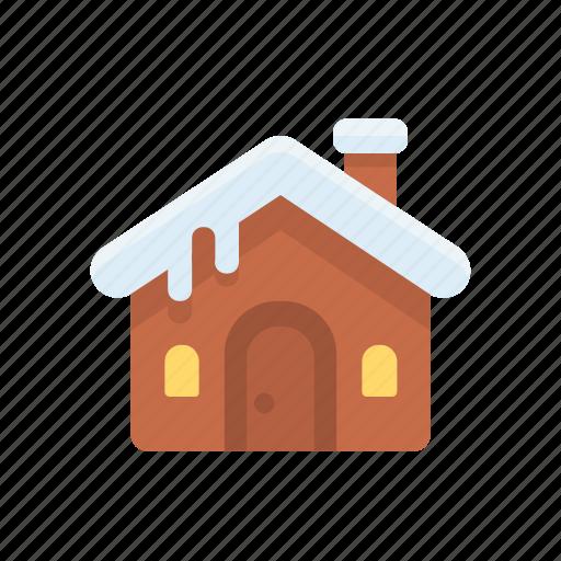 christmas, gingerbread, house, xmas icon