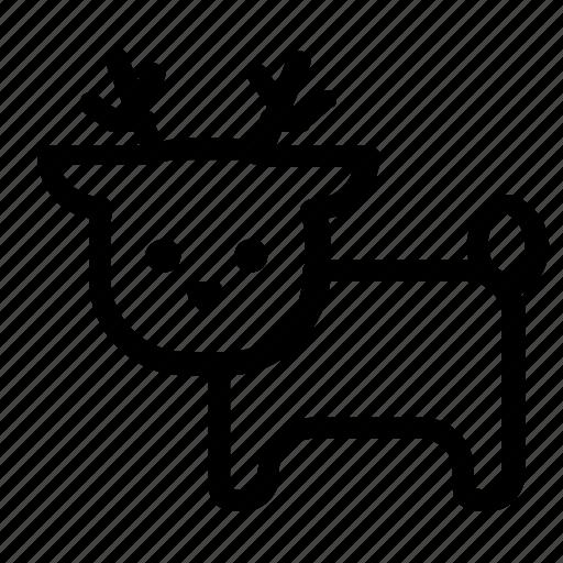 animal, deer, rheindeer icon