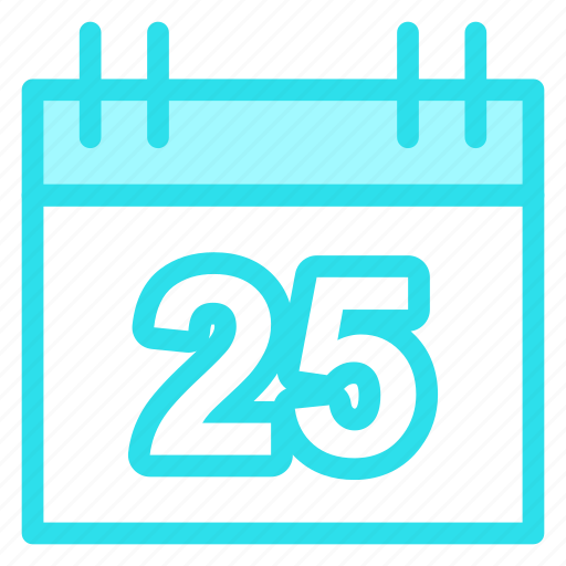 calendar, day, diar, number25, schedule icon