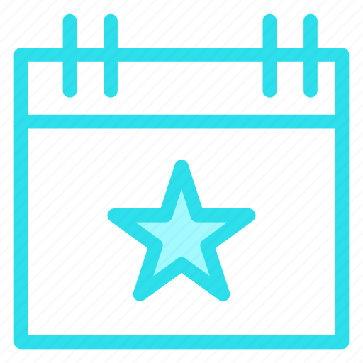 calendar, christmas, day, event, star icon