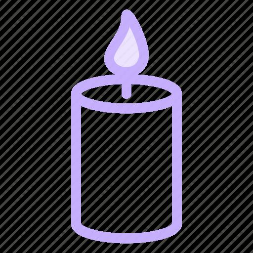 birthday, candle, christmas, hope, light icon