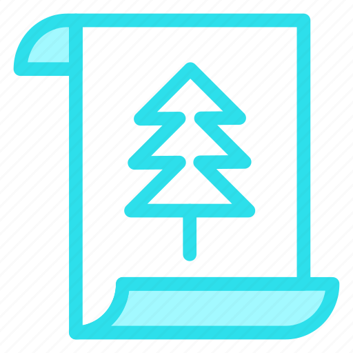 card, christmas, document, letter, paper icon