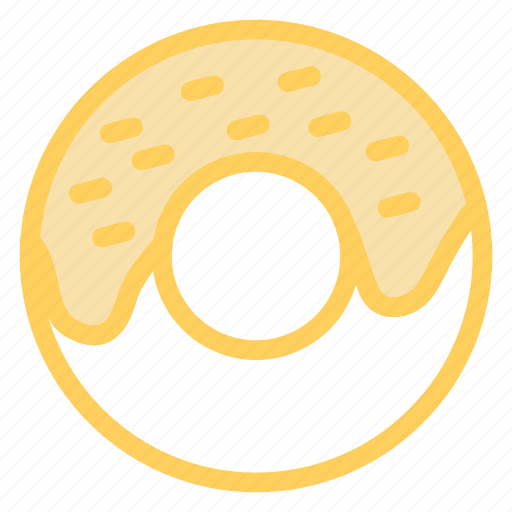 circle, coucou, donut, food, outline icon
