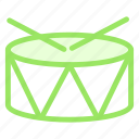 christmas, drum, music, snare, sticks icon