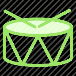 christmas, drum, music, snare, sticks icon