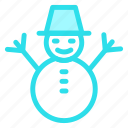 childhood, man, snow, snowman, winter icon