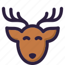 christmas, decoration, deer, gift, santa, winter, xmas icon