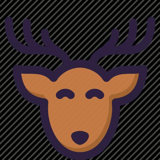 christmas, decoration, deer, gift, santa, winter, xmas icon