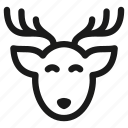 christmas, deer, gift, holiday, santa, snow, xmas icon
