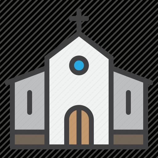 building, catholic, church, cristmass, religion icon